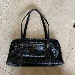 Women's Black Brighton Leather Handbag